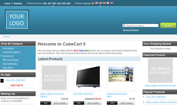 CubeCart - imagem: Ahead Works