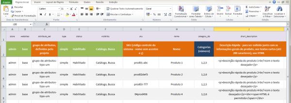 Planilha modelo para produtos no Magento - imagem: André Gugliotti