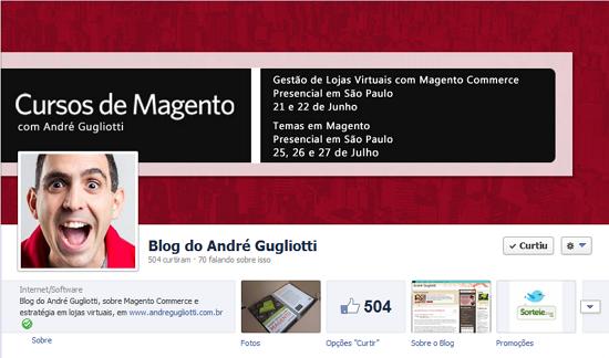 fanpage do Blog no Facebook - imagem: divulgação