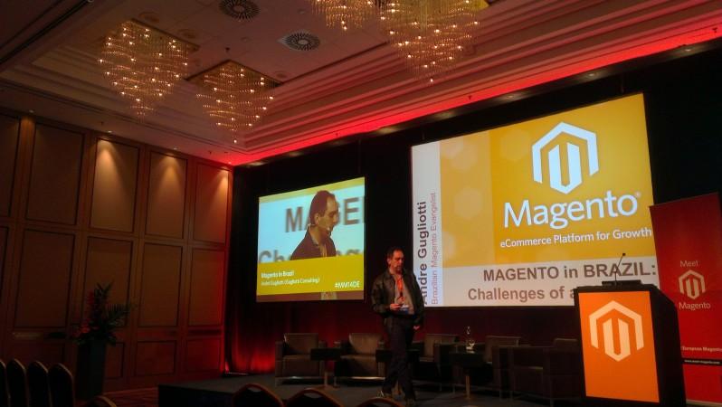 Andre Gugliotti no Meet Magento - imagem: divulgação