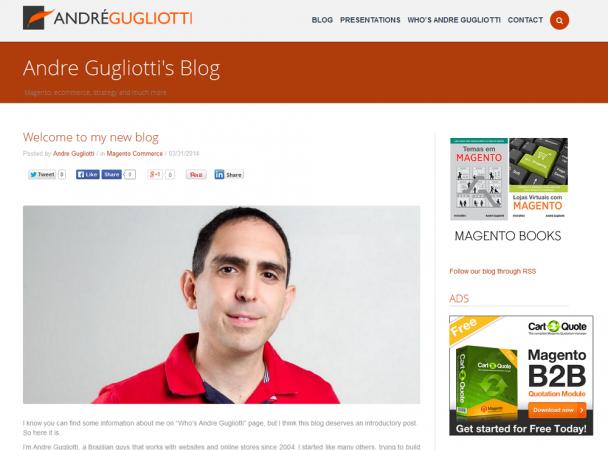 blog do André Gugliotti em inglês - imagem: reprodução