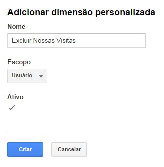 Dimensão personalizada no Google Analytics - imagem: reprodução