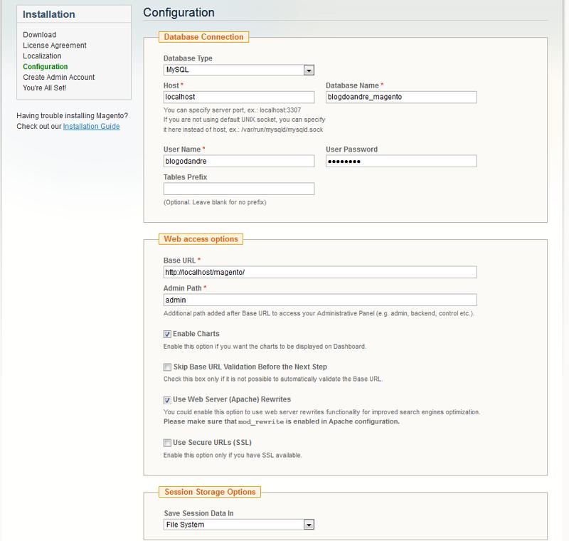 Credenciais de acesso ao DB no Magento - imagem: reprodução