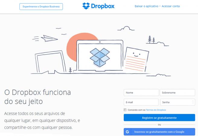 Dropbox - imagem: reprodução